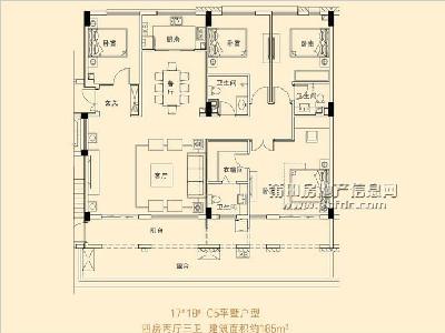 17、18#楼C5平墅户型