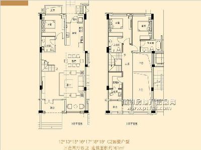 12-13、15-19#楼C2园墅户型图