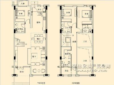 17、18#楼C3园墅户型图