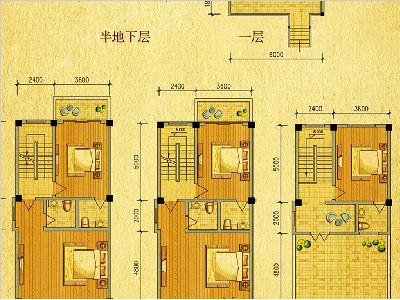 V1-V8别墅户型图