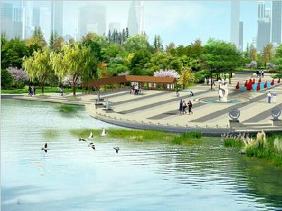 木兰溪面向主题广场效果图