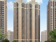 骏乘华府-6#楼北侧中庭透视图
