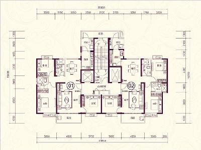 22#楼32-33层户型
