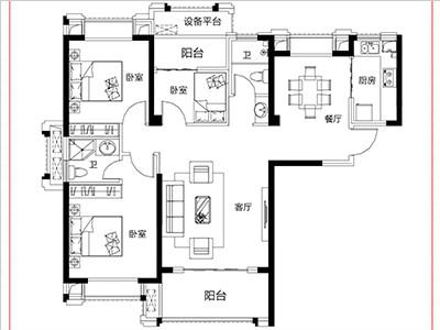 8#15#楼117㎡三房两厅