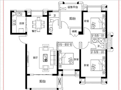 8#15#楼127㎡三房两厅