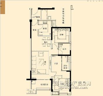 3#、5#楼A4标准层户型