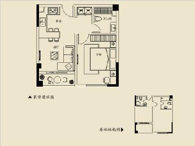 2號樓C 59㎡一房