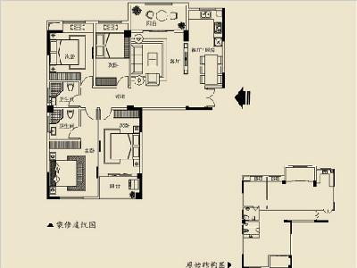 2号楼C 180㎡四房