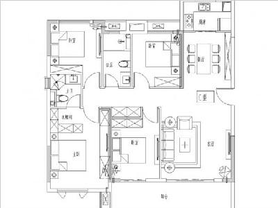 1#2#3#6#8#9#11#13#15#楼125㎡四房两厅两卫