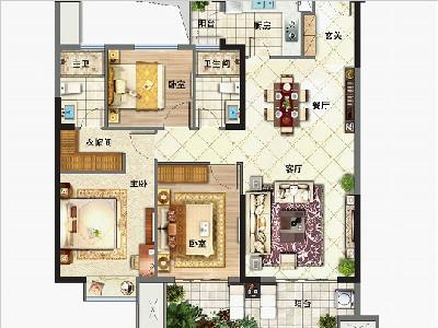 3#5#6#7#8#9#楼120㎡三房两厅两卫