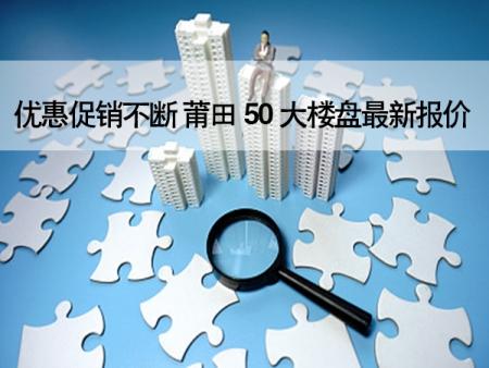 最低5万买房、优惠促销不断 万博博彩官网50大楼盘最新报价