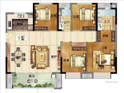 B地7#8#9#10#11#12#楼140㎡四房两厅两阳台