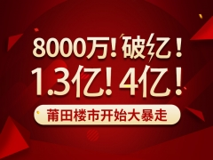 """8000万!破亿!1.3亿!4亿!莆田楼市开始""""大暴走"""""""