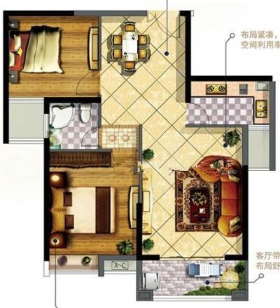 塘北社區精裝兩房,全新裝修未入住!沃爾瑪華僑新城萬嘉-莆田租房