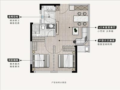 37#38#楼61㎡两房两厅一卫