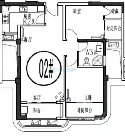 新光皇庭水岸 两房两厅 高层 175万-莆田二手房