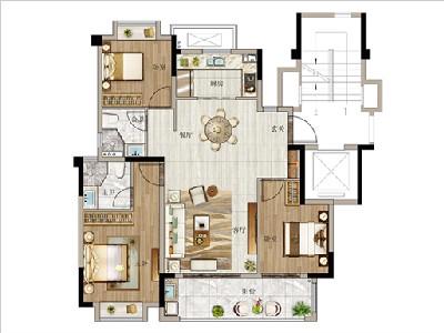 1#6#樓111㎡三房兩廳兩衛