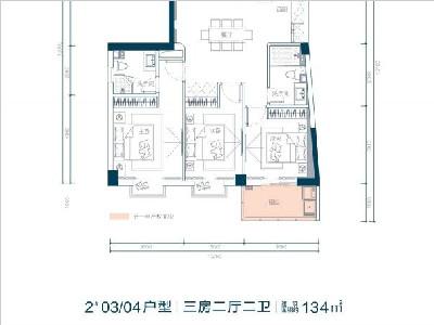 2# 133.8㎡ 3房2厅2卫