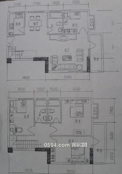 恒润花园 楼中楼 4房2厅3卫 毛坯房 卖13473-莆田二手房