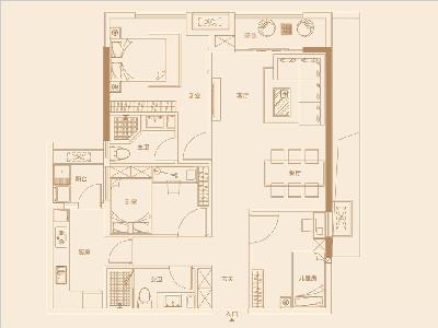 13單元122㎡三房兩廳一廚