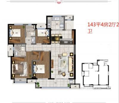 融创玖溪大观 楼王高层 4房2厅2卫 卖118000-莆田二手房